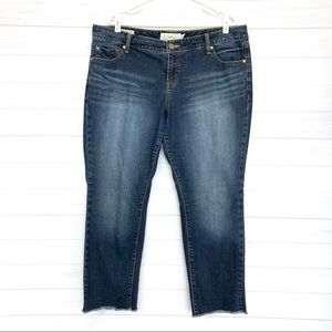 Torrid Boyfriend Raw Hem Ankle Skinny Jeans